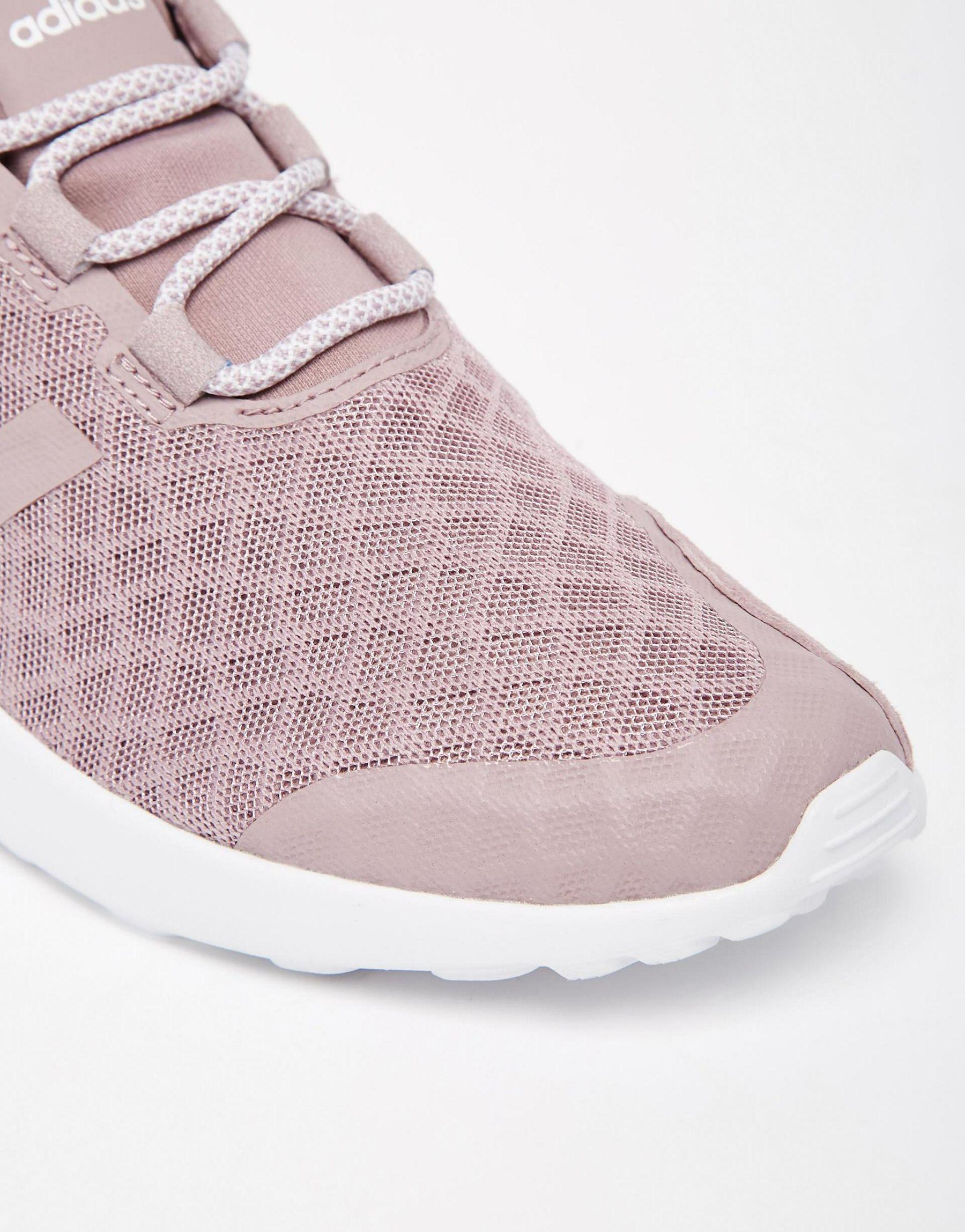 5ad6923bf ... shopping lyst adidas originals originals purple zx flux verve mesh  trainers ad325 61871