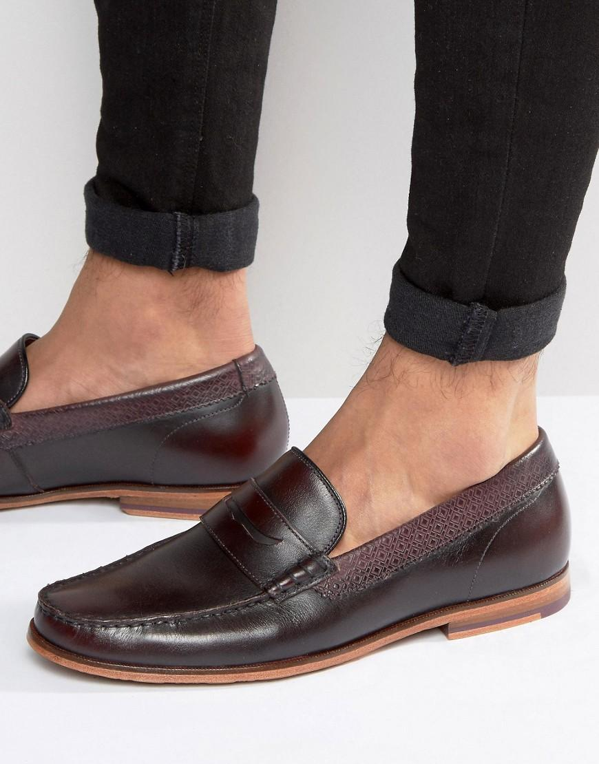 7892160ac0e4 Lyst - Ted Baker Miicke Loafers in Red for Men