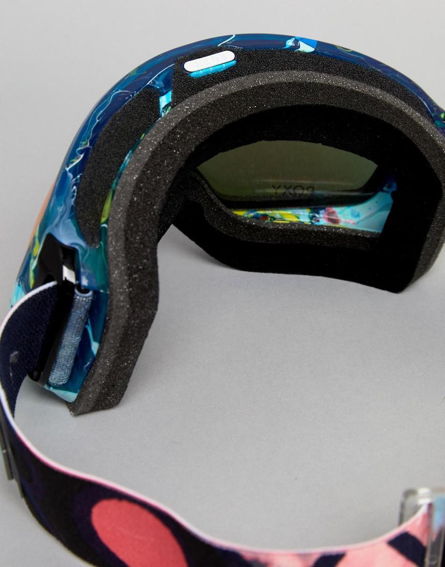 ab43a9e2e1c Roxy Rockferry Printed Ski Goggles - Lyst