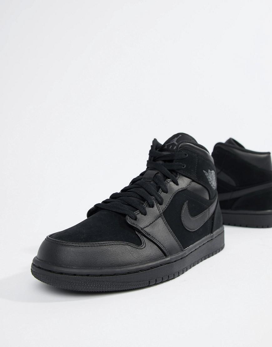 8689bf23039 Nike Nike Air 1 Mid Trainers In Black 554724-050 in Black for Men - Lyst