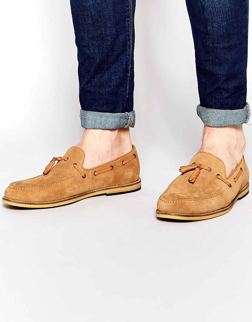 ab6c80a2d11 Lyst - Frank Wright Suede Tassel Loafers In Tan for Men