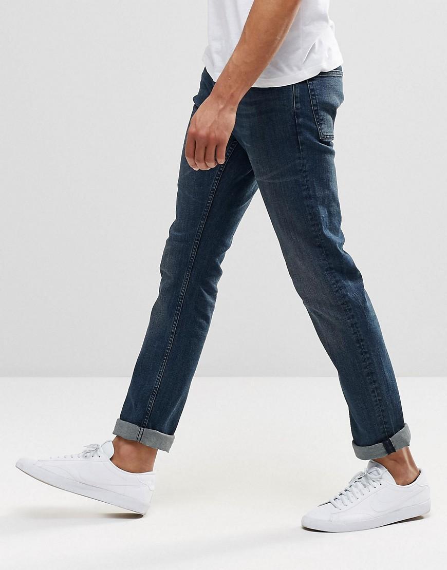 Reiss Denim Slim Fit Jeans in Black for Men