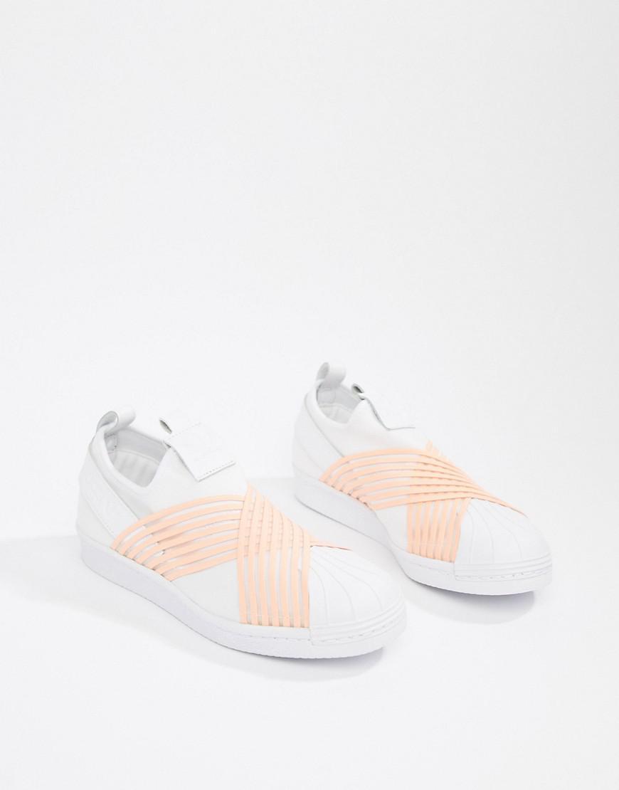 adidas Originals Superstar Trainer | Footwear White Orange