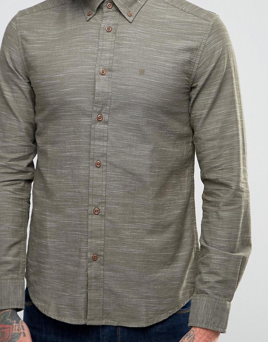 Lyst wrangler fleck shirt in green for men for Wrangler denim shirts uk