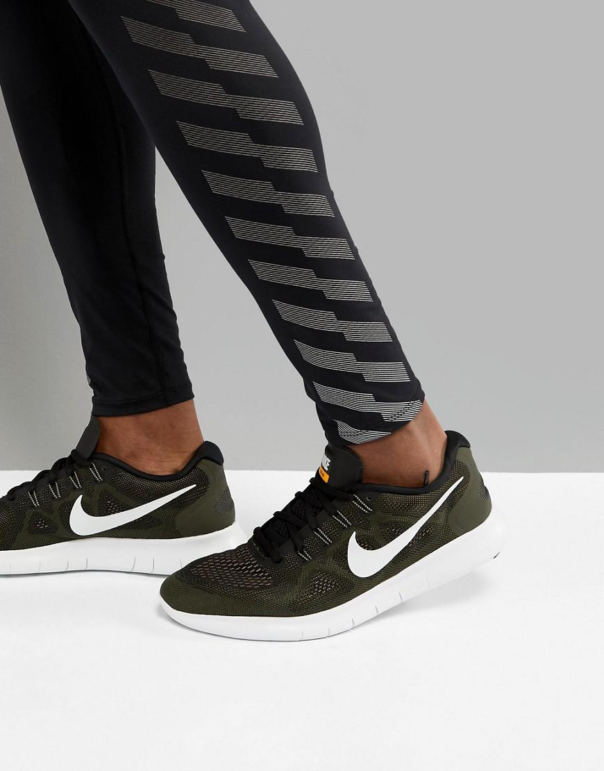 008 Khaki 880839 Green for Lyst Nike In in Trainers Free 2017 Run Homme xXwR0qUZS