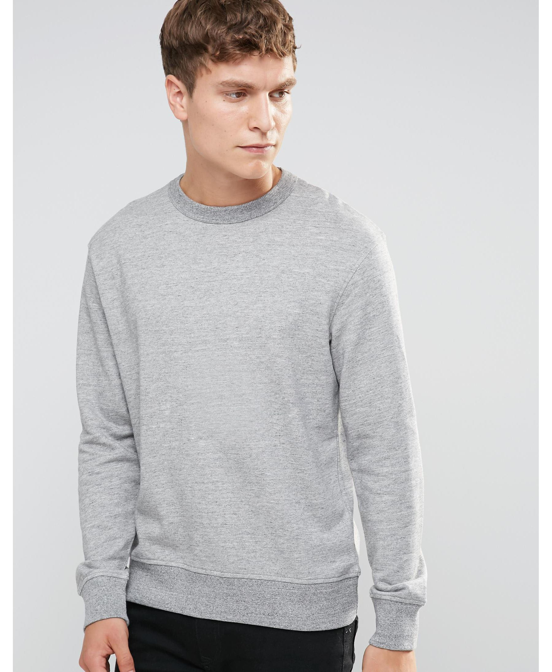 lyst jack jones originals sweatshirt in gray for men. Black Bedroom Furniture Sets. Home Design Ideas