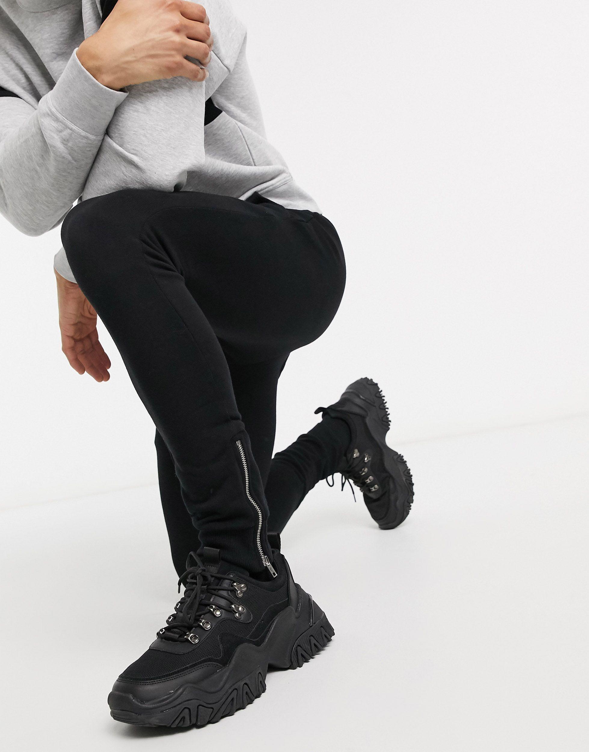 ASOS Superskinny joggingbroek in het Zwart voor heren