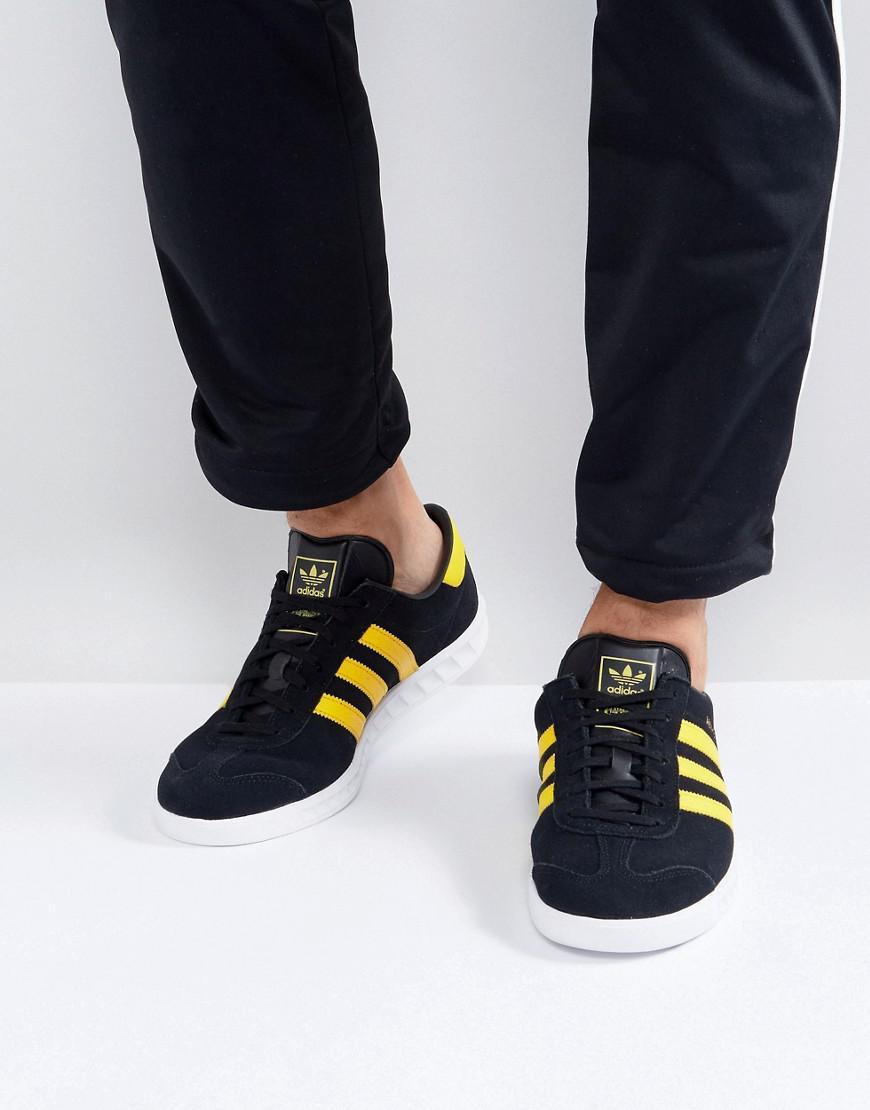 Adidas Originals Hamburgo formadores en negro by9756 en negro para hombres