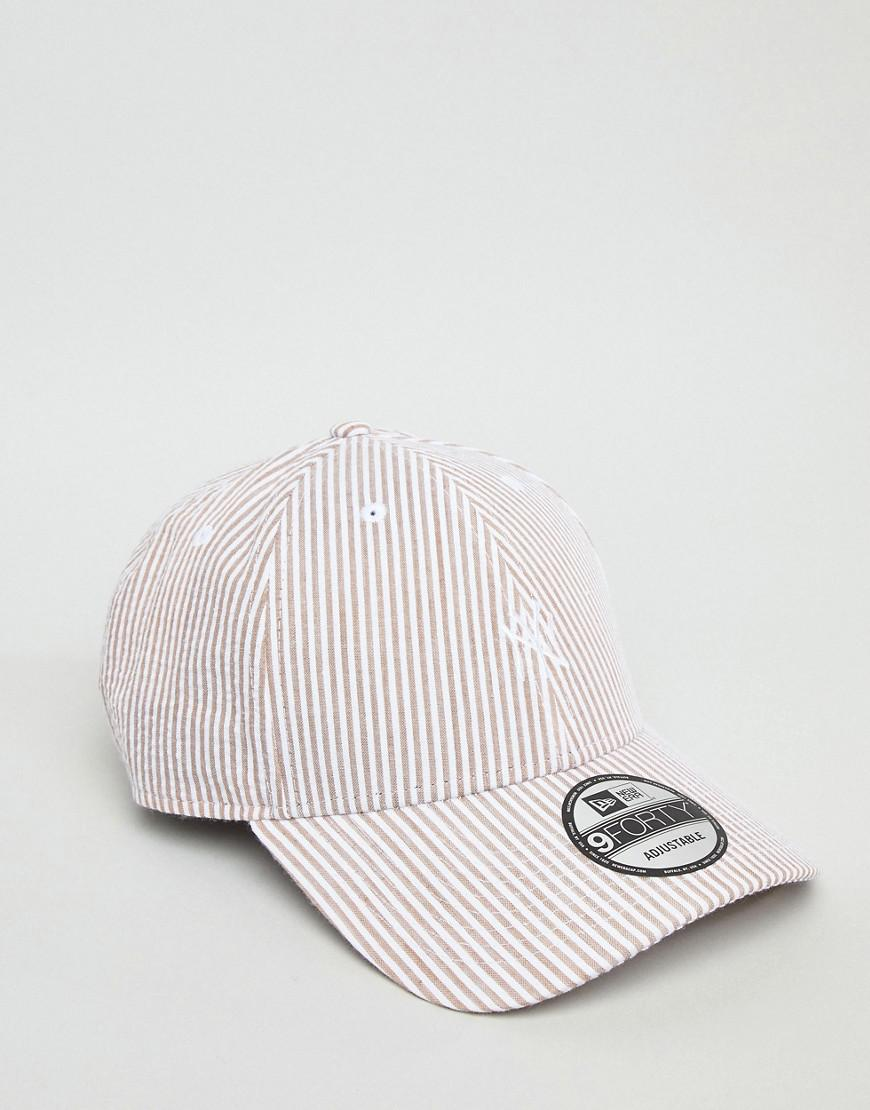8b932ea37ec40d KTZ 9forty Ny Yankees Adjustable Baseball Cap In Seersucker in Gray for Men  - Lyst
