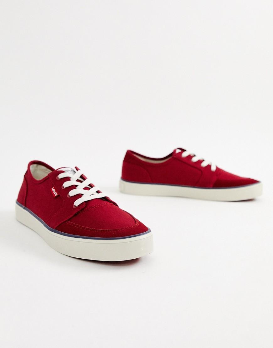 Levi's Stevens - Canvas Sneakers in het Rood voor heren