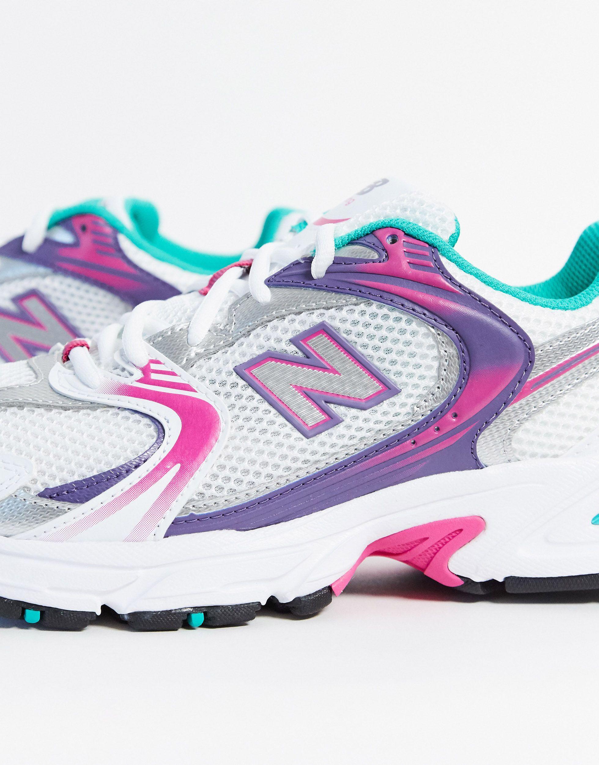 530 - Baskets - Blanc et violet New Balance en coloris Rose - Lyst