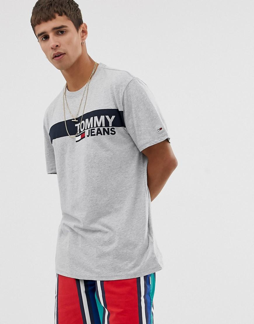 ecd8b7f91e6 Tommy Hilfiger Essential T-shirt With Chest Box Logo In Grey in Gray ...