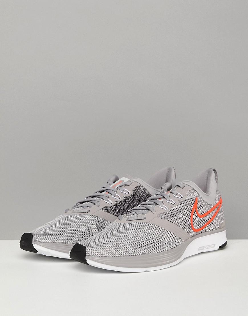 Nike Zoom Strike Trainers In Grey Aj0189-006 in Grey for Men