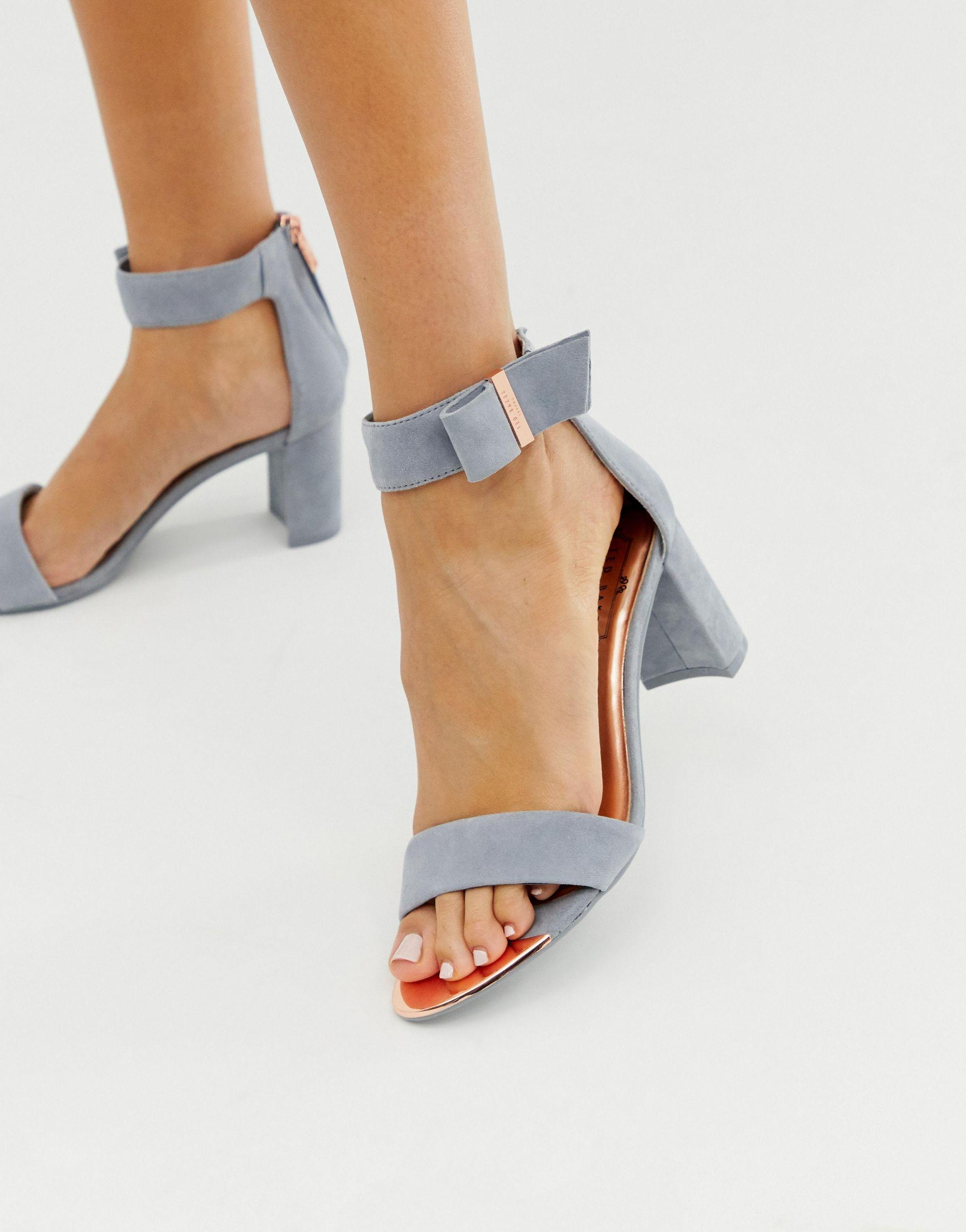 Ted Baker Grey Suede Barely There Block