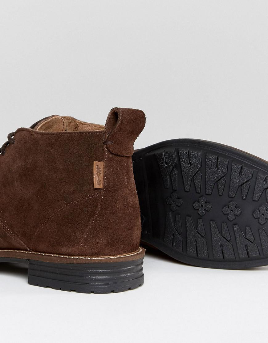 Levi's Huntington Suede Boots In Brown