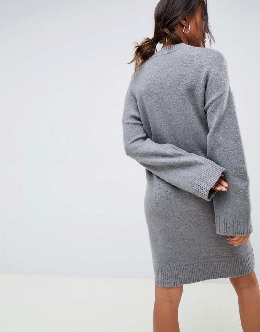 ee128b5e8921 Lyst - Asos Asos Design Maternity Knitted Mini Dress In Fluffy Yarn ...