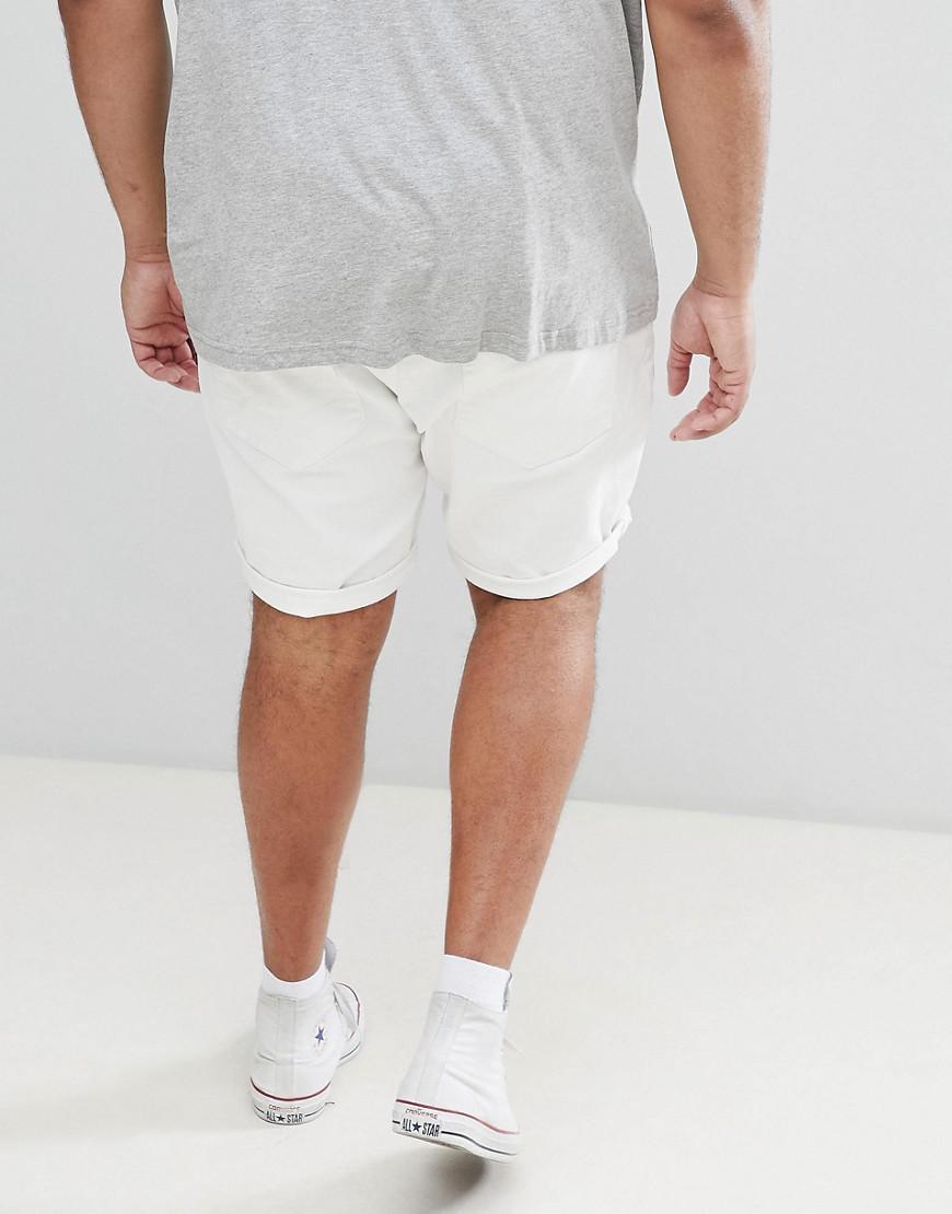 Conception, Plus Short Denim En Blanc Mince - Asos Blanc