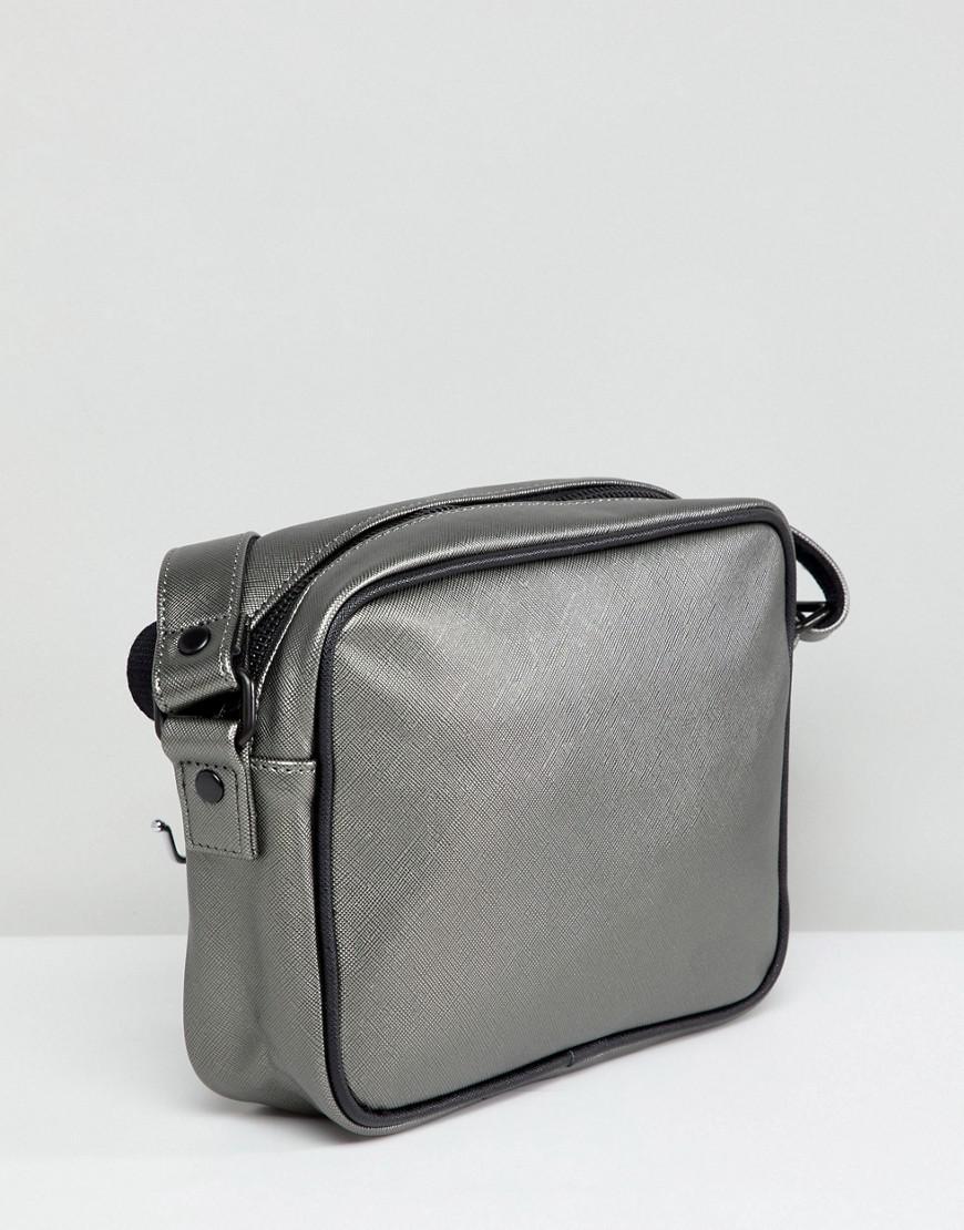 Fred Perry Canvas Metallic Zip Cross Body Bag