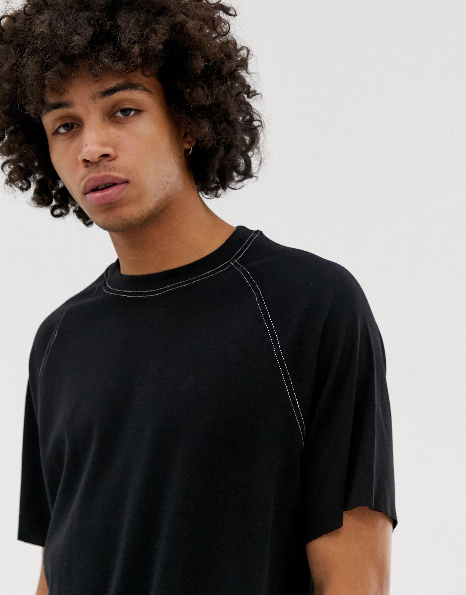 Weekday Denim Slap - T-shirt in het Zwart voor heren