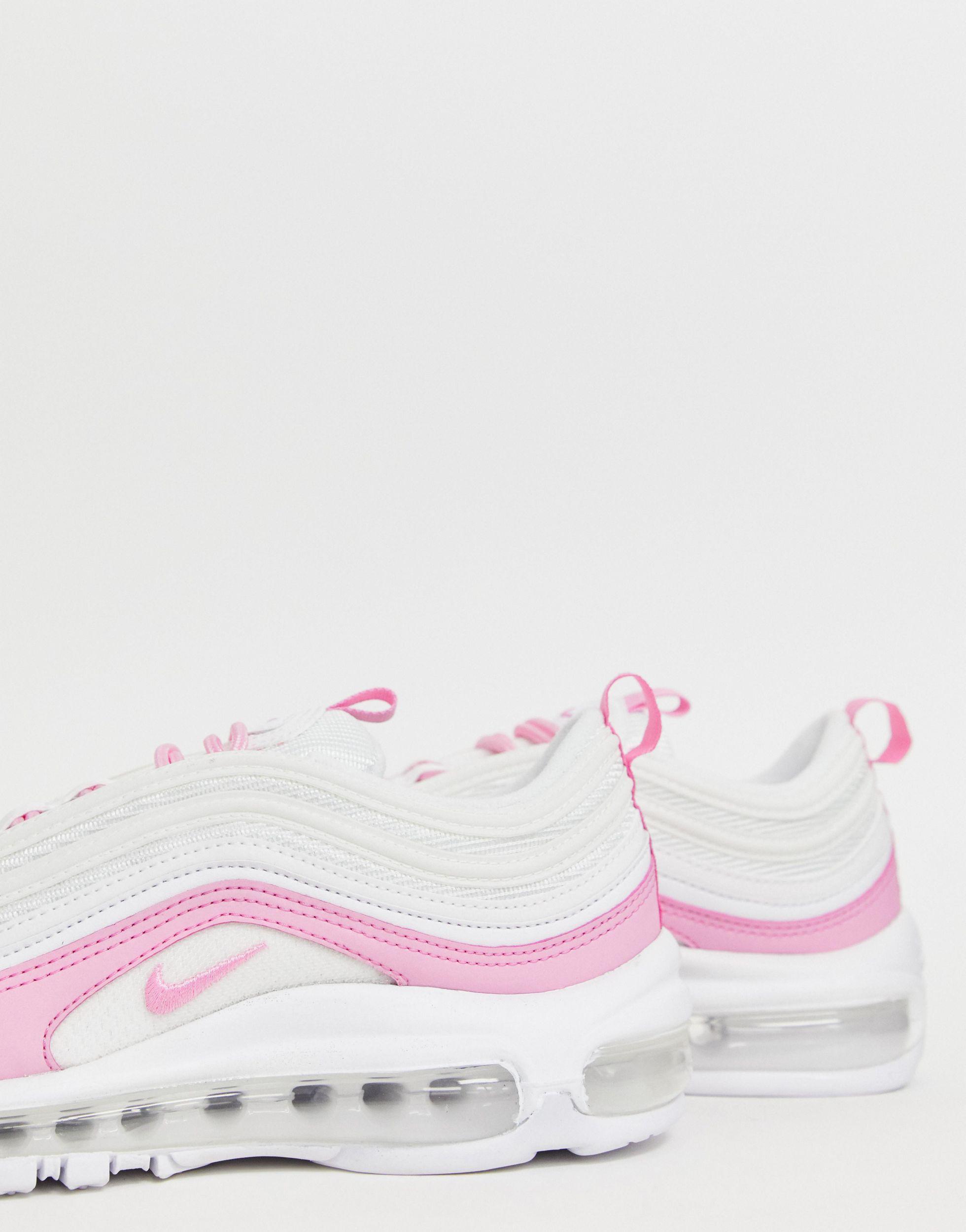Air Max 97 - Sneakers bianche e rosa di Nike in Bianco - Lyst