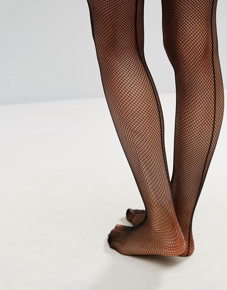 86817d50679 Ann Summers Micro Fishnet Seamed Hold Ups in Black - Lyst
