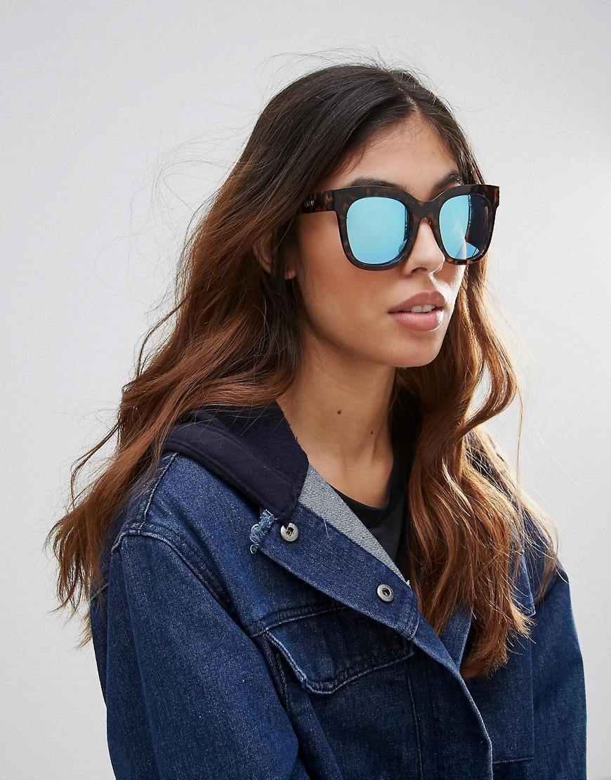 6aaf46a73198b Quay Sagano Tort Frame Sunglasses in Brown - Lyst