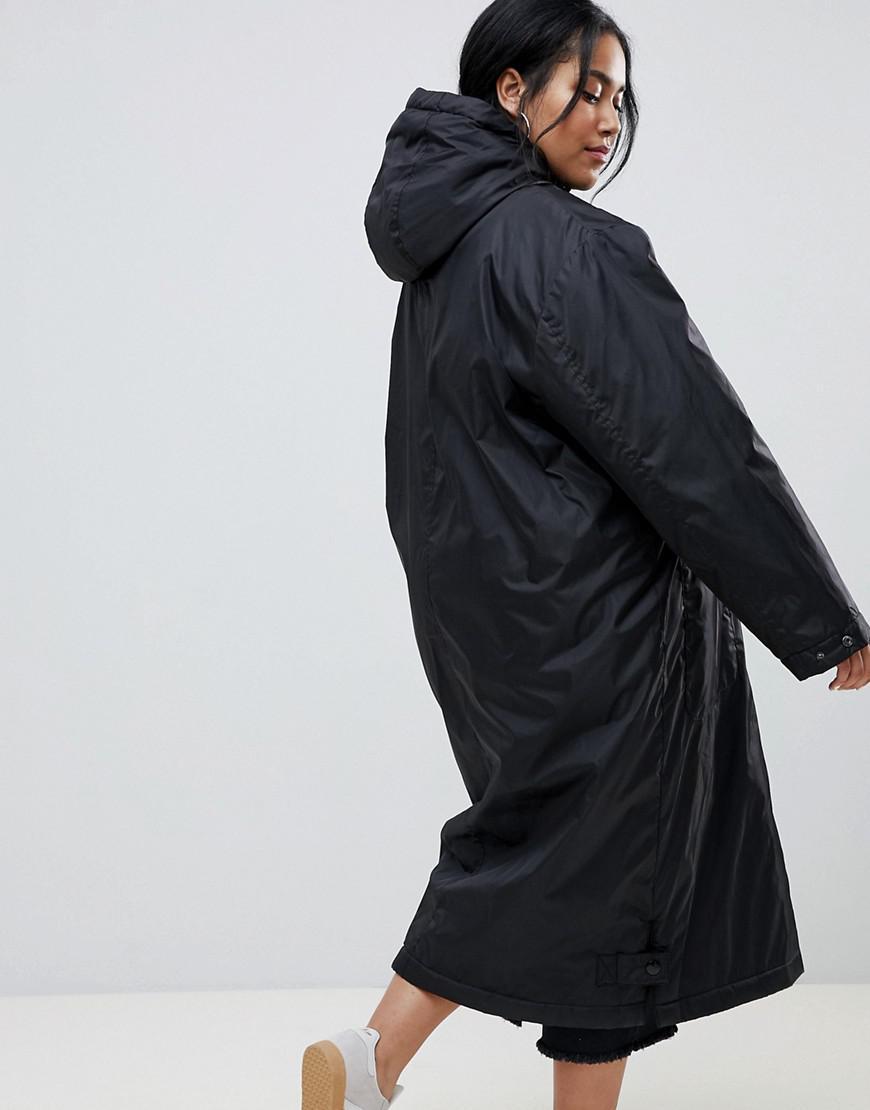 16c1cd95ff8 Lyst - ASOS Asos Design Curve Maxi Borg Lined Rainwear in Black