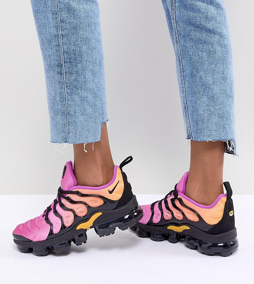 purchase cheap 74141 7d2fa Nike Synthetic Air Vapormax Plus Sherbet in Black - Lyst