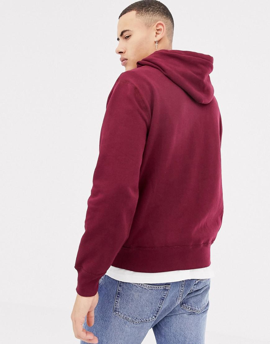 29605e61003a Lyst - Hoodie pais enfiler avec logo joueur de polo Polo Ralph Lauren pour  homme en coloris Rouge
