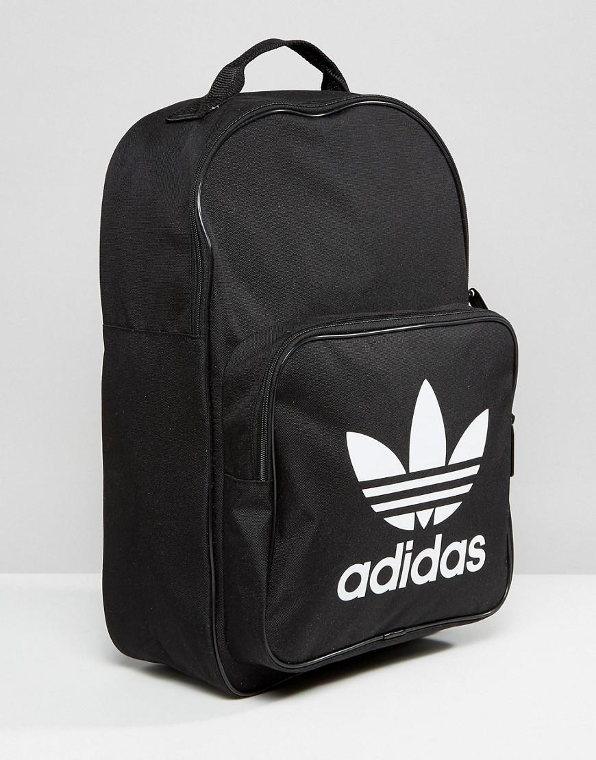 Lyst - adidas Originals Originals Trefoil Logo Backpack In Black in Black db83bb6716055