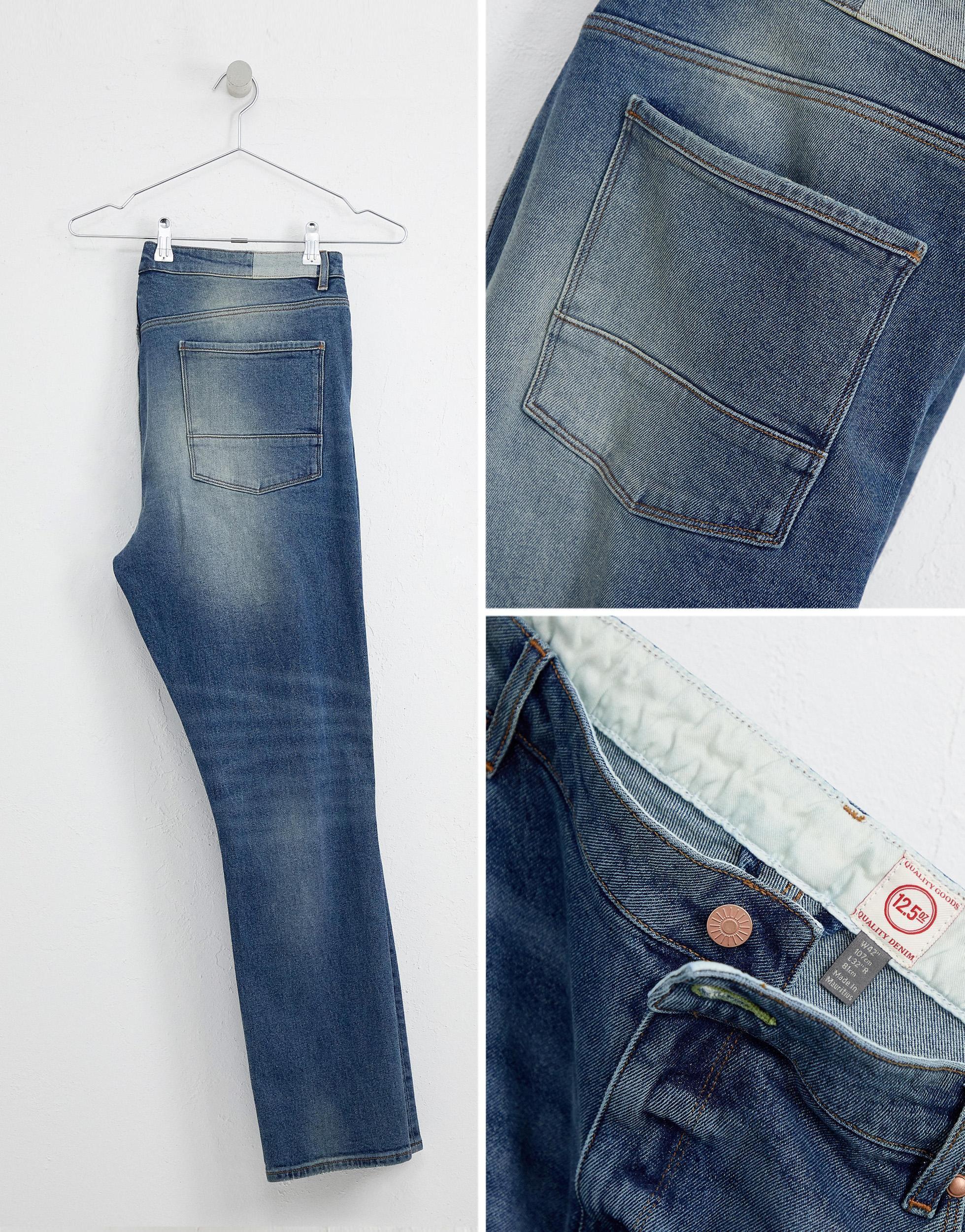 ASOS Denim Plus - 12.05oz - Skinny Jeans in het Blauw voor heren