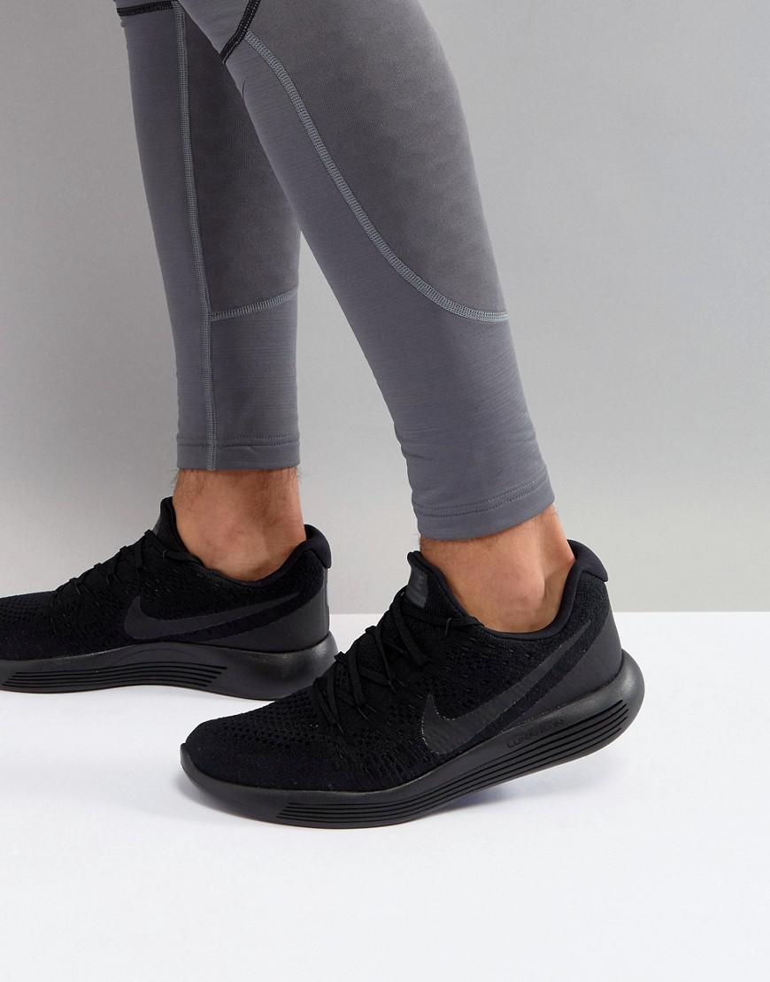 buy online 835f4 10b92 Nike Lunarepic Low Flyknit 2 Trainers In Black 863779-014 ...