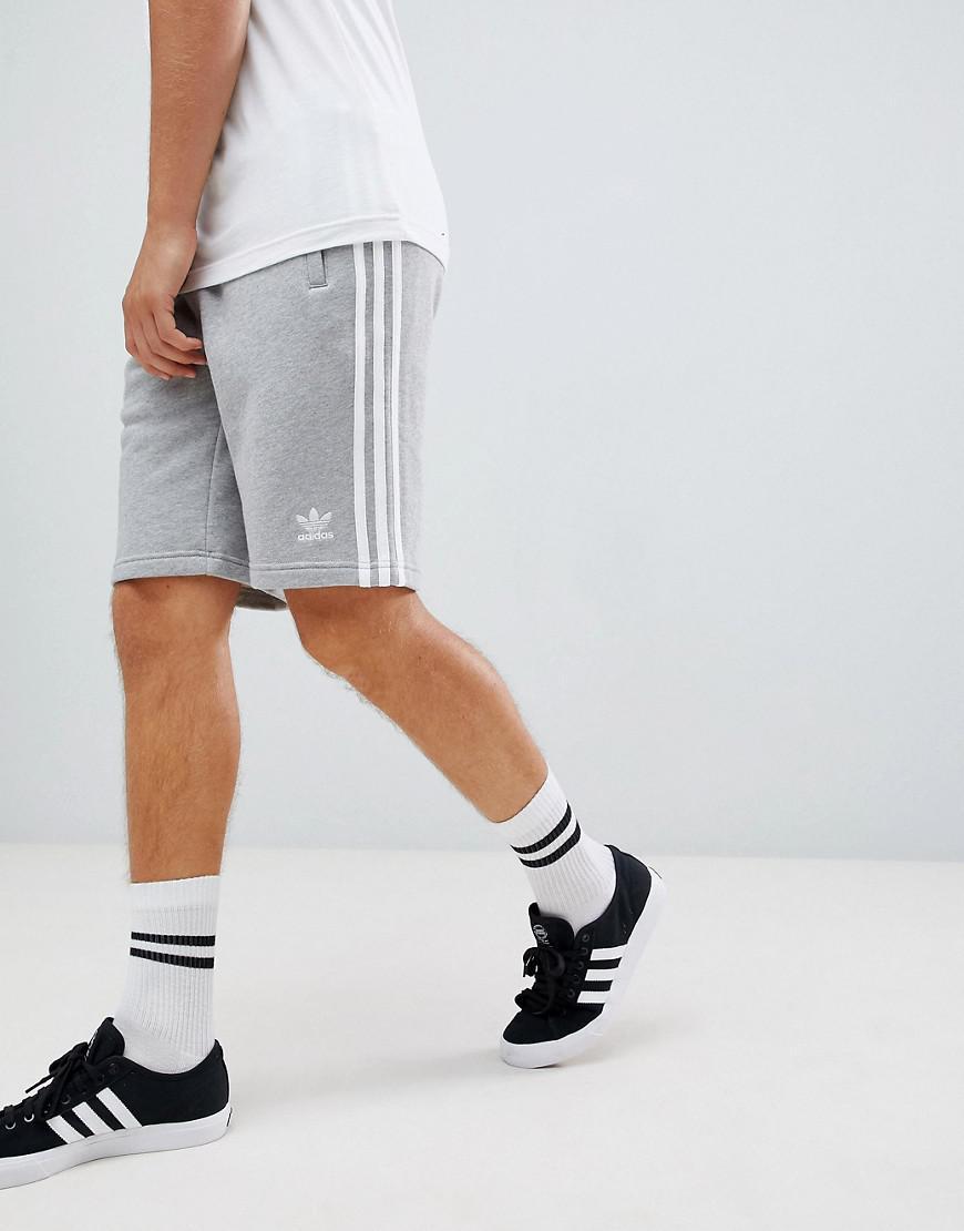 adidas 3 stripe jersey shorts mens cheap online