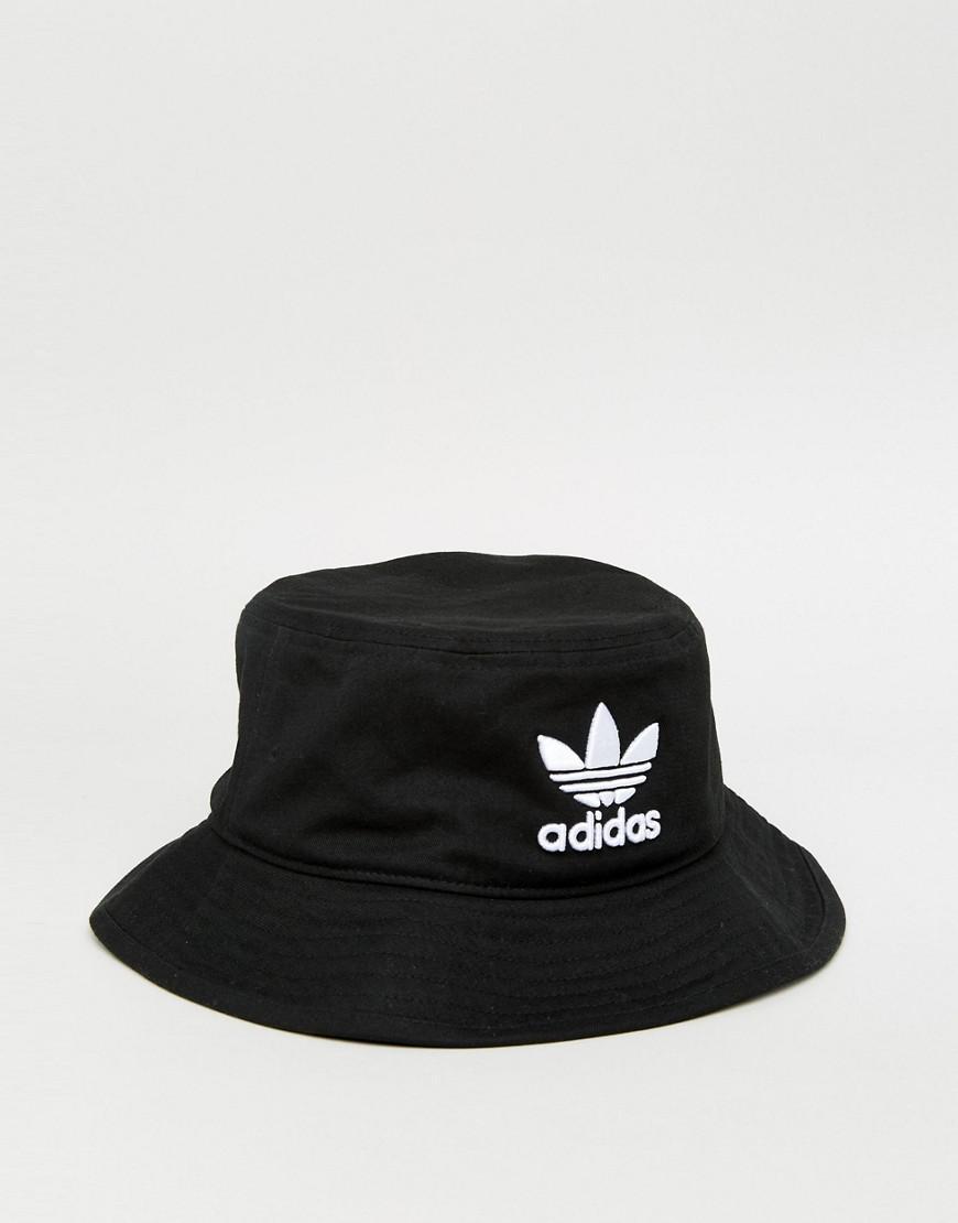 4ca8d52d8c9f3 adidas Originals Trefoil Bucket Hat In Black Bk7345 in Black for Men ...
