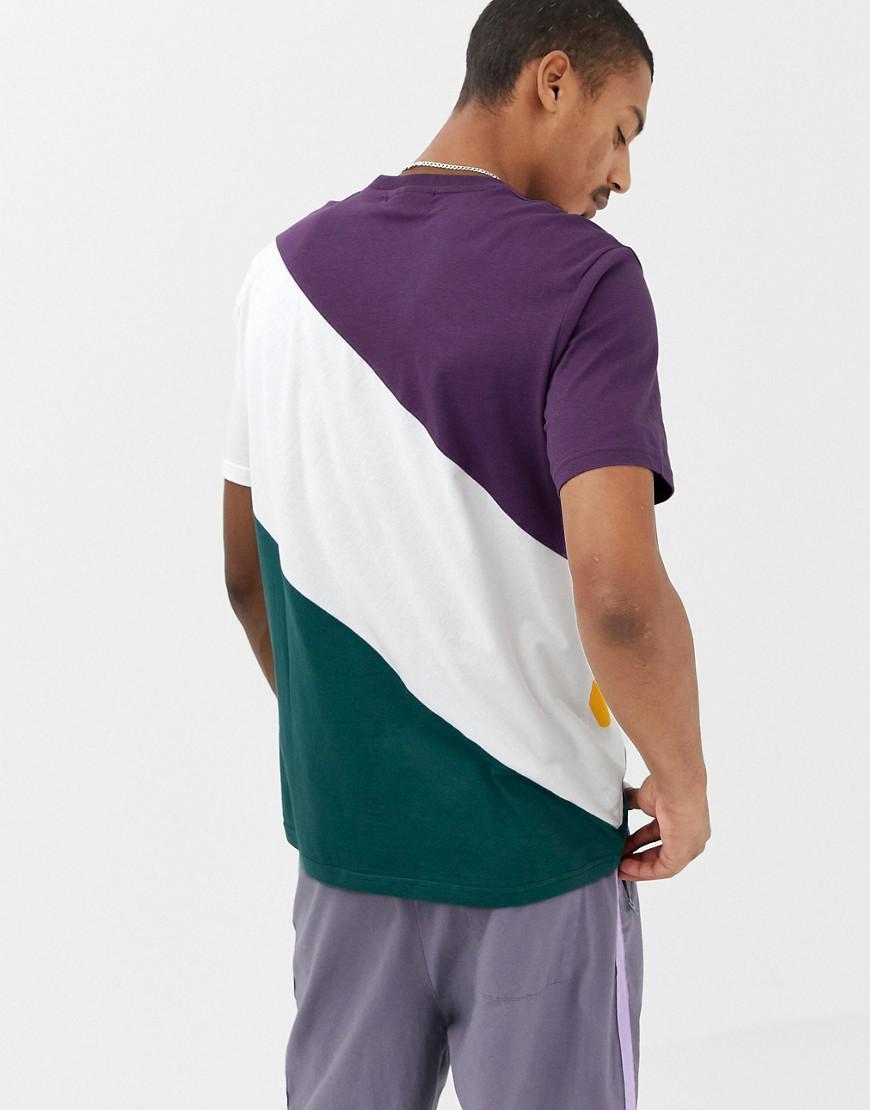 9c43d7349737 Fila Black Line Rowan Block Logo T-shirt In Purple in Purple for Men - Lyst