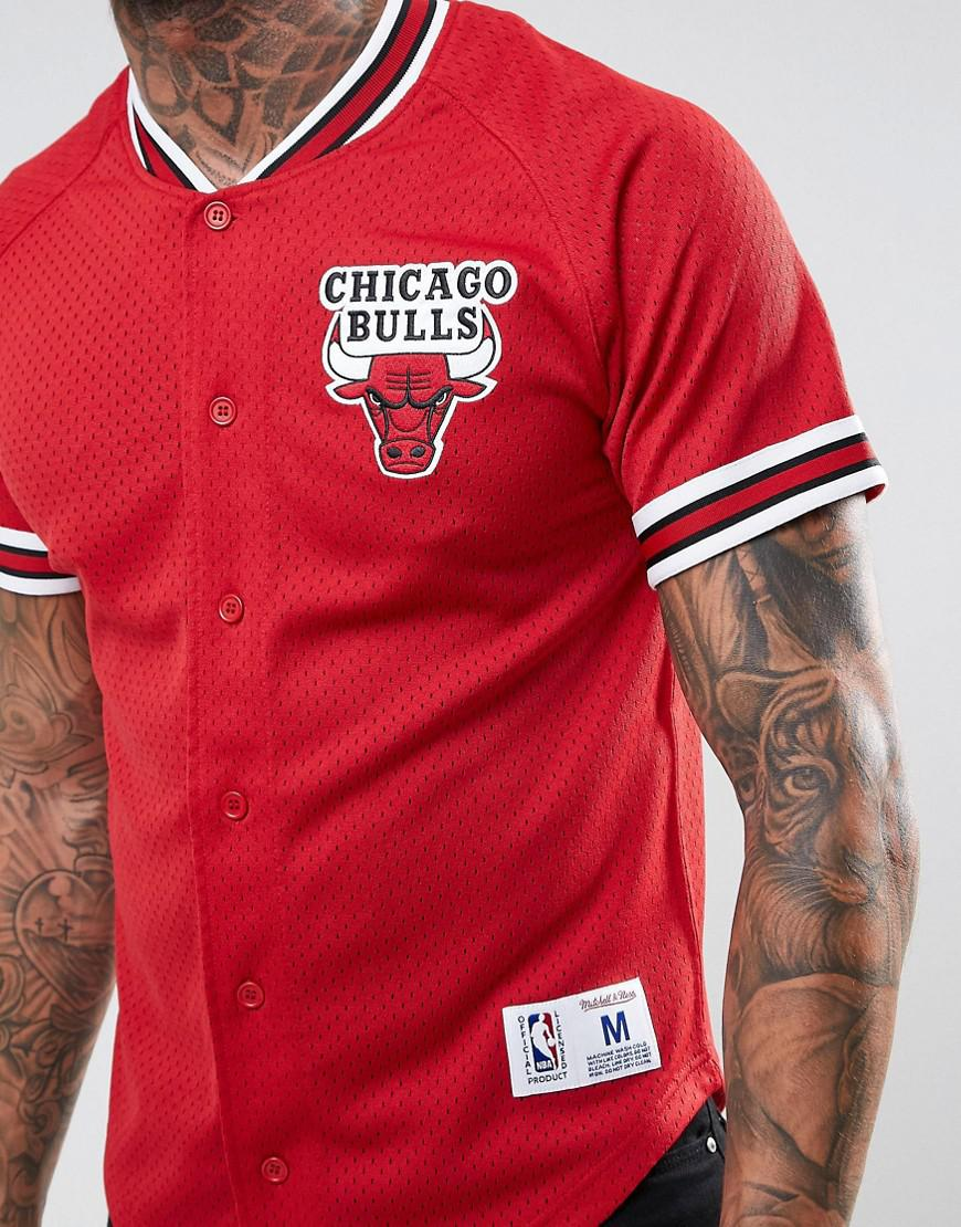 c43172005dfda Lyst - Mitchell   Ness Nba Chicago Bulls Mesh T-shirt in Red for Men