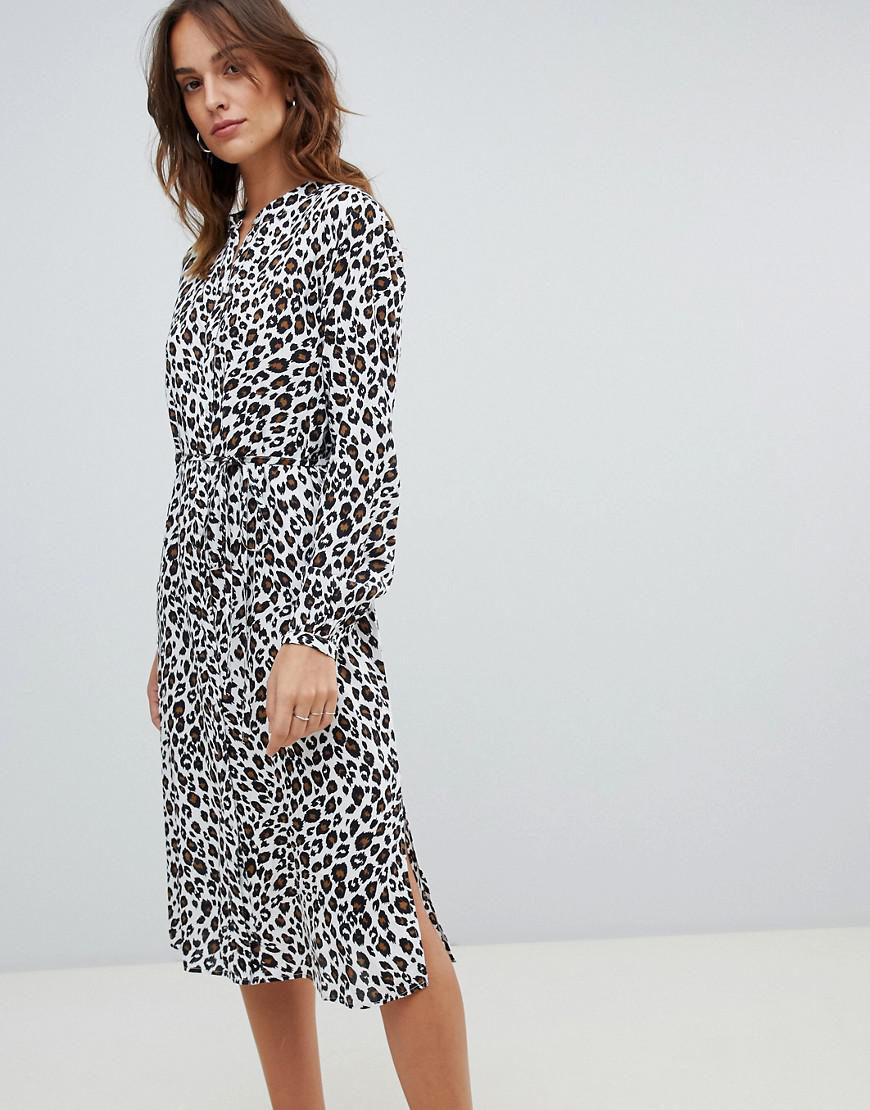 939e3b46a0 Vila. Women s Leopard Midi Shirt Dress