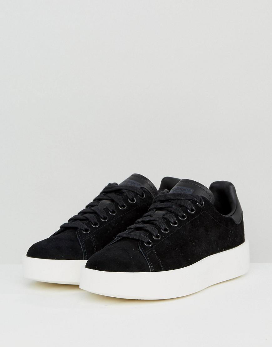 Originals Black Nubuck Stan Smith Bold Sole Sneakers
