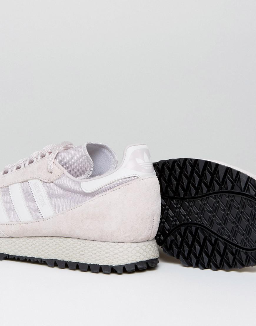 adidas Originals Leather New York Trainers In Ice Purple Bb2739 for Men