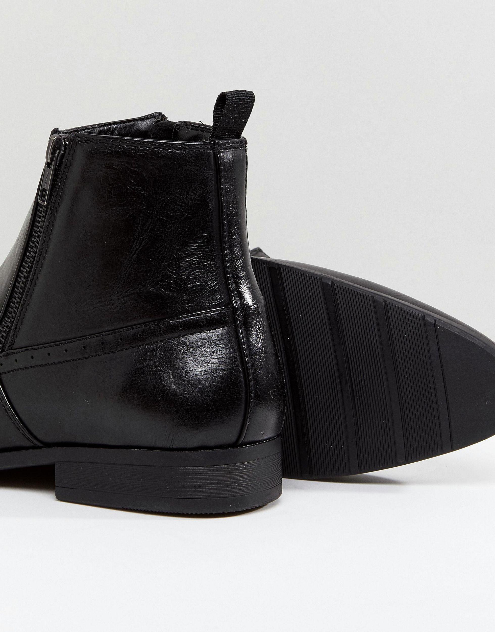 Botas Chelsea ASOS de hombre de color Negro