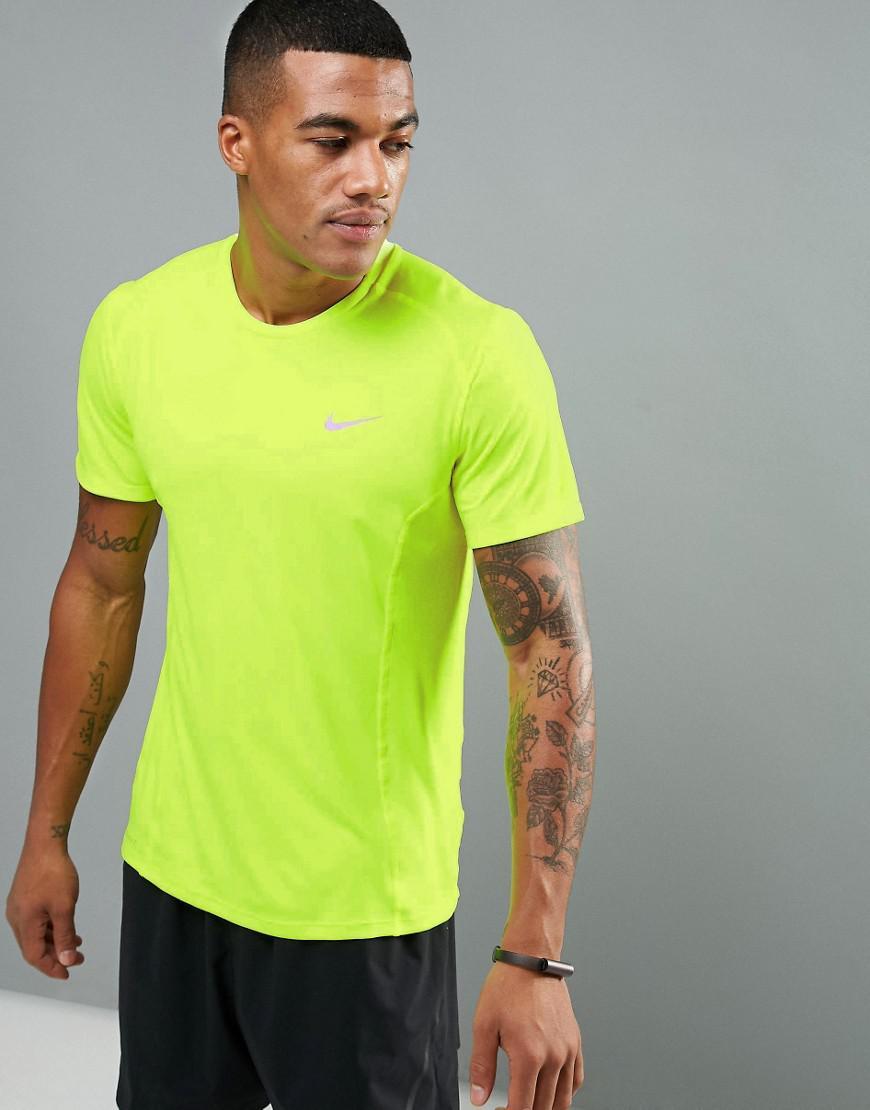 Nike Dri-Fit Running Breath Miler T-Shirt - Yellow