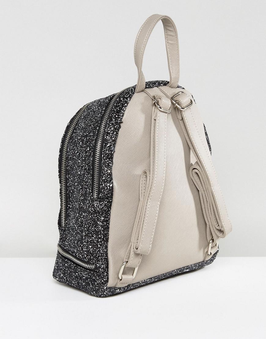 Yoki Fashion Yoki Glitter Backpack in Black