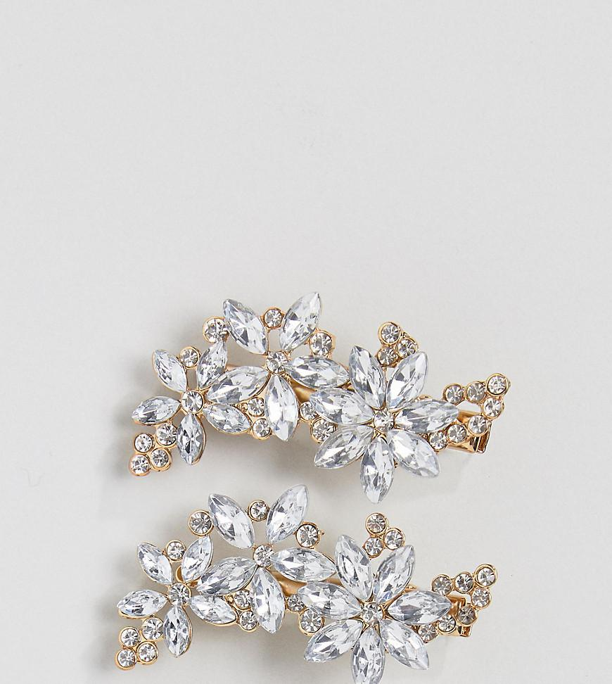 Silver Pearl Embellished Hair Grips - Silver True Decadence 2TNOBUx3ze