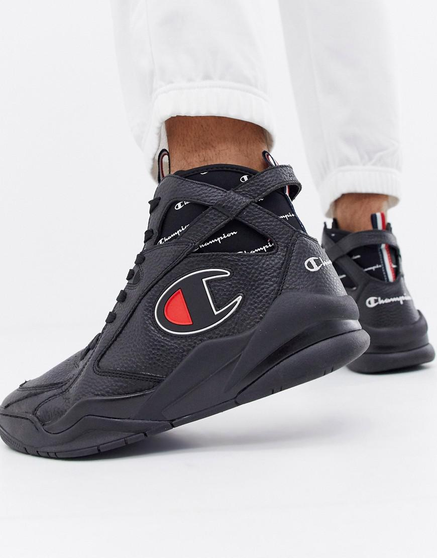 5f269ef8726a2 Champion - Zone 93 High Leather Sneakers In Black for Men - Lyst. View  fullscreen