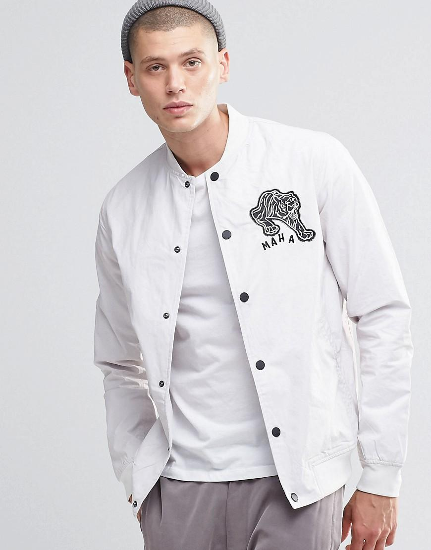 Maharishi Cotton No Rel Panther Stadium Jacket in White for Men