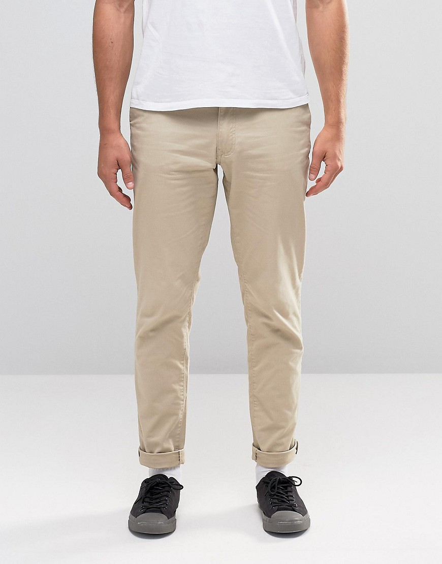 jack jones slim fit chino with stretch in natural for. Black Bedroom Furniture Sets. Home Design Ideas