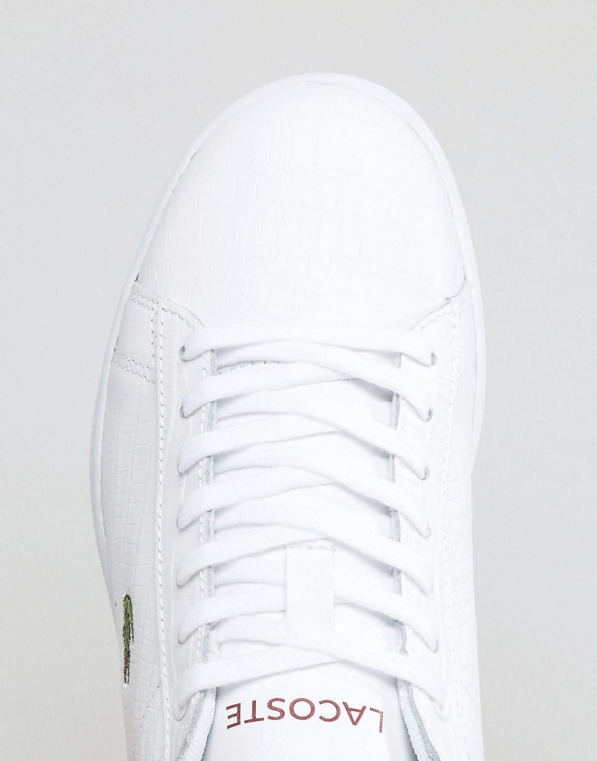 With Trainers Red Back Textured Lacoste Counter White Carnaby Evo wqFIOA