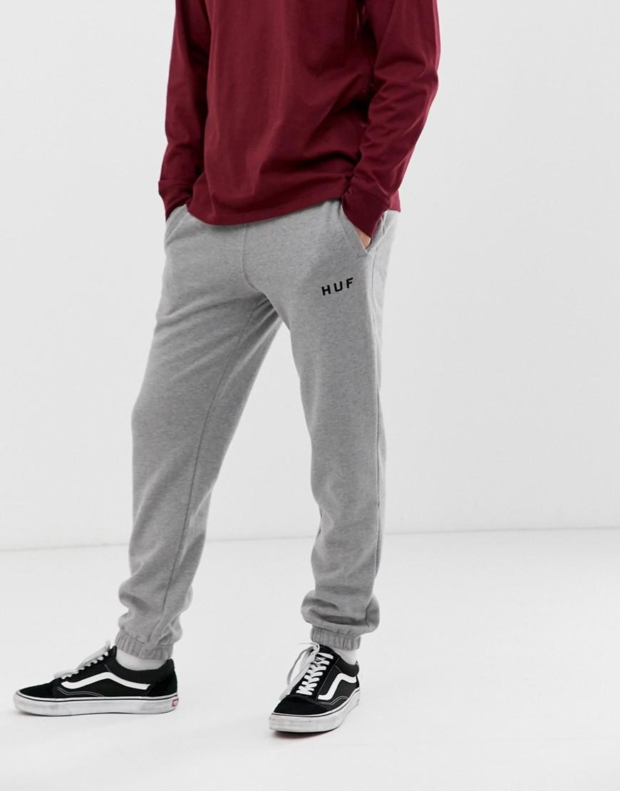 833f5924c1c Huf - Gray Original Logo joggers In Grey for Men - Lyst. View fullscreen