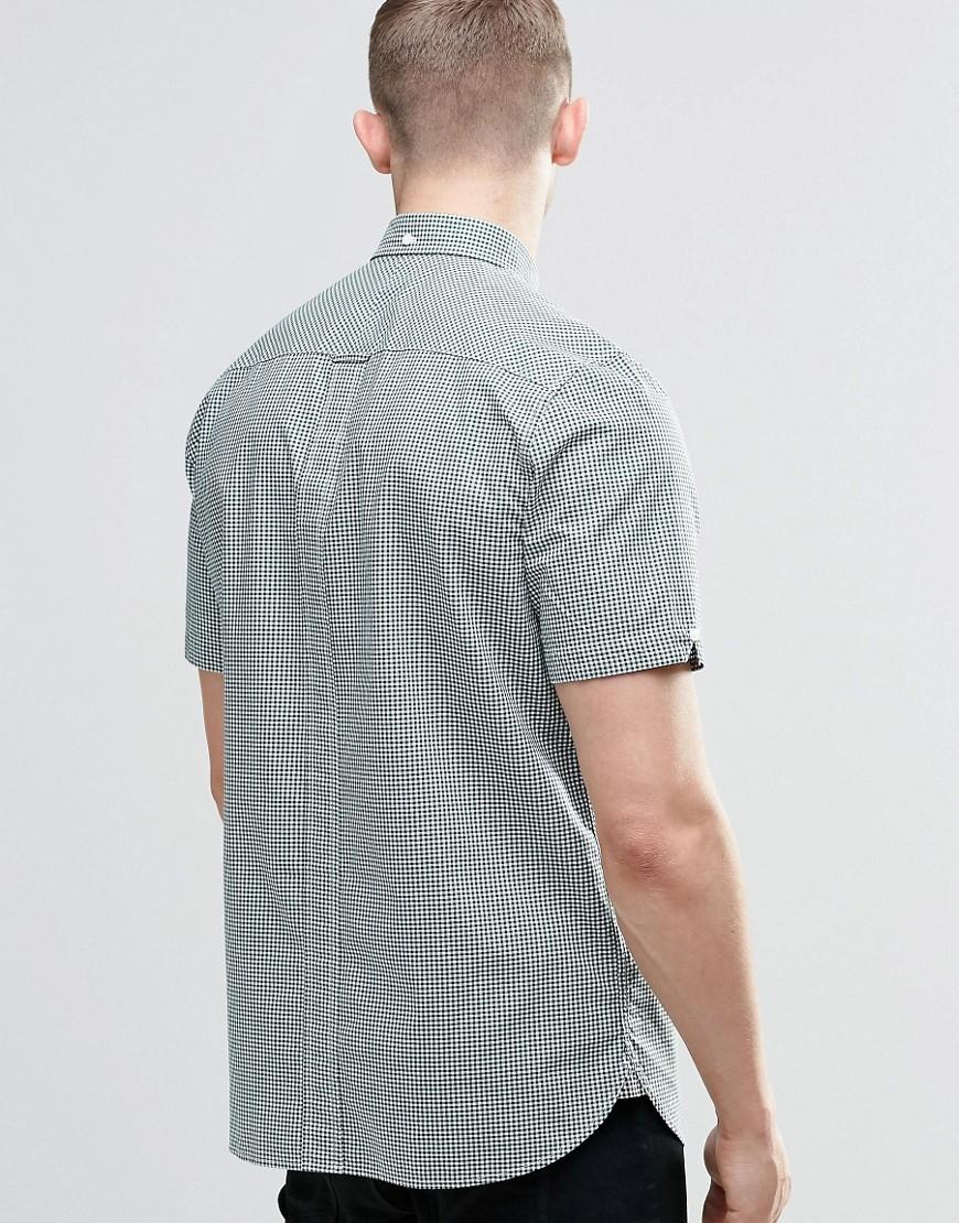 Stussy Shirt In Slim Fit In Gingham Check Short Sleeves In