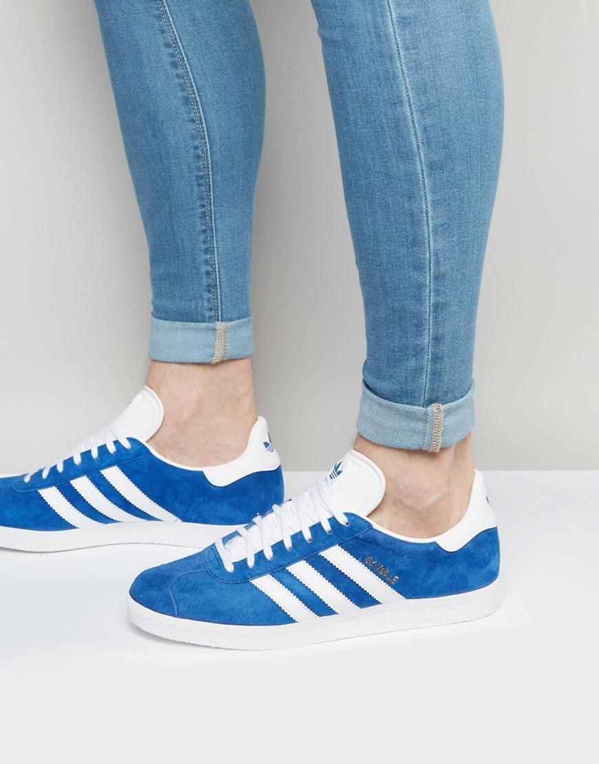 586dec9699e533 Lyst - adidas Originals Gazelle Trainers In Blue S76227 in Blue for Men